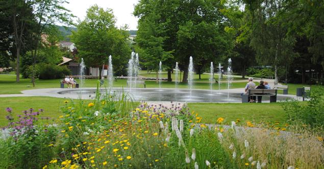 Fontänengarten in Kurpark