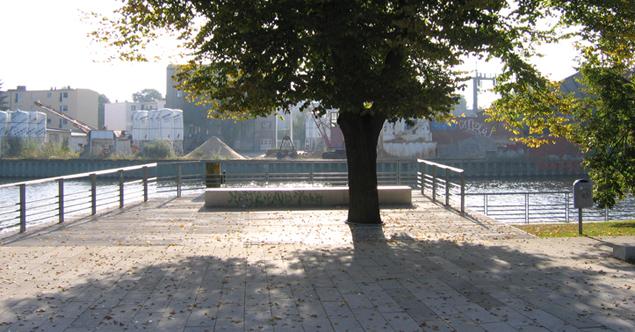 Plattform an der Havel